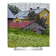 Framehouses In Finland Shower Curtain