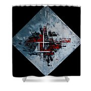 Frammenti In Rosso E Nero Shower Curtain