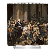 France: Bread Riot, 1793 Shower Curtain