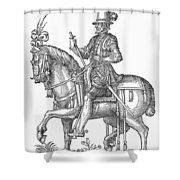 France: Officer, 1572 Shower Curtain