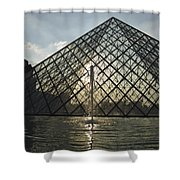 France, Paris The Louvre Museum Shower Curtain