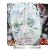 Francis Bacon - Watercolor Portrait.2 Shower Curtain