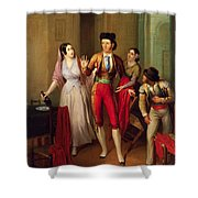 Francisco Montes Shower Curtain