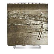 Francisco Sky Line Vintage  Shower Curtain