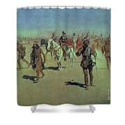 Francisco Vasquez De Coronado Making His Way Across New Mexico Shower Curtain