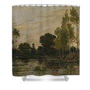 Francois Daubigny   Alders Shower Curtain
