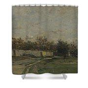 Francois Daubigny   The Garden Wall Shower Curtain