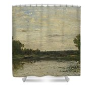 Francois Daubigny   View On The Oise Shower Curtain