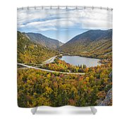Franconia Notch Autumn View Shower Curtain