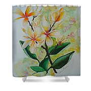 Frangipangi Shower Curtain