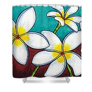 Frangipani Delight Shower Curtain