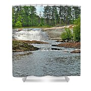 Frank J Russel Falls 2 Shower Curtain