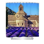 All Purple, Cistercian Abbey Of Notre Dame Of Senanque, France  Shower Curtain