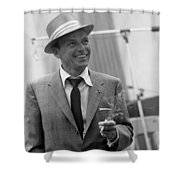 Frank Sinatra In Studio  Shower Curtain