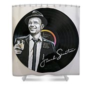Frank Sinatra Portrait On Lp Shower Curtain