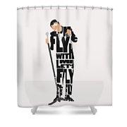 Frank Sinatra Typography Art Shower Curtain