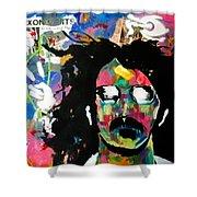 Frank Zappa Pop Art Shower Curtain
