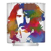 Frank Zappa Watercolor Shower Curtain