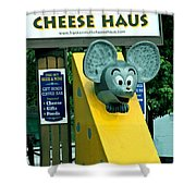 Frankenmuth Cheese Haus Mouse  Shower Curtain