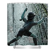 Frankenmuth Fountain Boy Shower Curtain