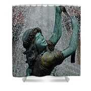 Frankenmuth Fountain Girl Shower Curtain