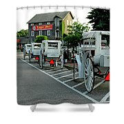 Frankenmuth Michigan Carriages At The Mill Shower Curtain