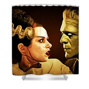 Frankenstein And The Bride I Have Love In Me The Likes Of Which You Can Scarcely Imagine 20170407 Shower Curtain