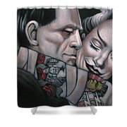 Frankenstein And Wife  Shower Curtain