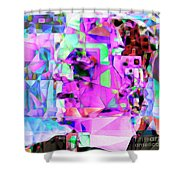 Frankenstein In Abstract Cubism 20170407 Square Shower Curtain