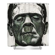 Frankenstein Portrait Shower Curtain