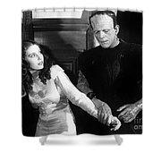 Frankensteins Monster Molests Young Girl Boris Karloff Shower Curtain