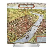 Frankfurt, Germany, 1572 Shower Curtain