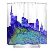 Frankfurt Skyline 3 Shower Curtain