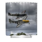 Frankie And Spitfire Shower Curtain