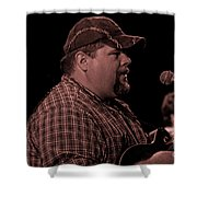 Frankie Ballowe In Sepia 8742s  Shower Curtain