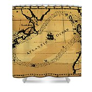 Franklin Chart, 1786 Shower Curtain