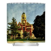 Franklin County Courthouse - Hampton Iowa Shower Curtain
