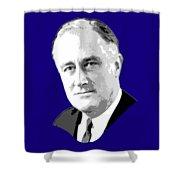 Franklin D. Roosevelt Grayscale Pop Art Shower Curtain