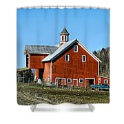 Franklin Spring Barn Shower Curtain