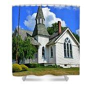 Franklin Square Church Vertical Shower Curtain