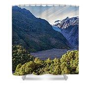 Franz Josef, New Zealand Shower Curtain
