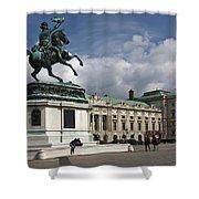 Franz Joseph Equestrian Statue Shower Curtain