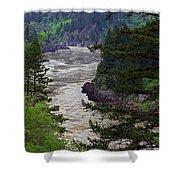 Fraser River British Columbia Shower Curtain