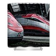 Freccia Rossa Trains. Shower Curtain