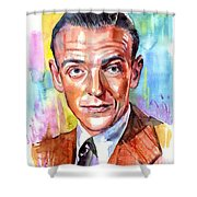 Fred Astaire Painting Shower Curtain