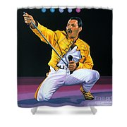 Freddie Mercury Live Shower Curtain