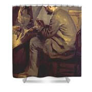Frederic Bazille Painting The Heron 1867 Shower Curtain