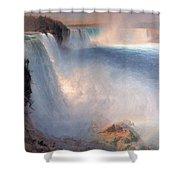 Frederic Edwin Church  Niagara Falls  American Side   1867 Shower Curtain