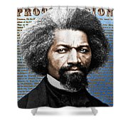 Frederick Douglass And Emancipation Proclamation Painting In Color  Shower Curtain