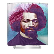 Frederick Douglass Painting In Color Pop Art Shower Curtain